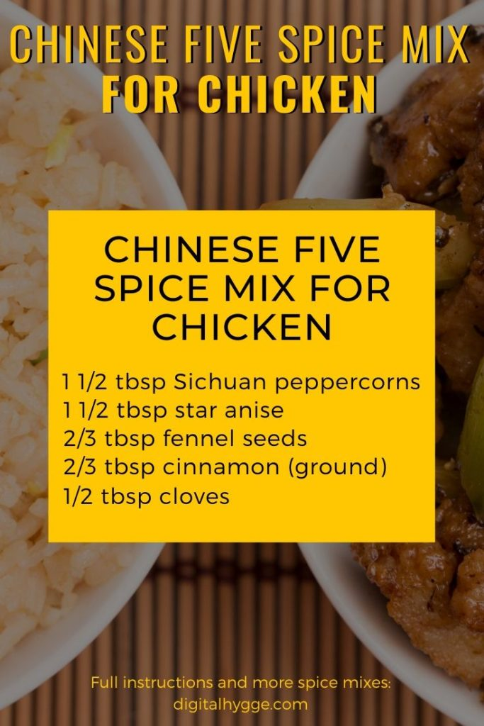 Homemade Chinese Five Spice Mix For Chicken