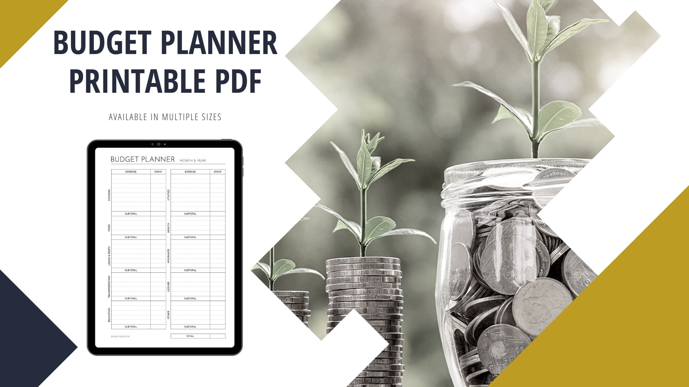 Monthly Budget Planner (Printable PDF)