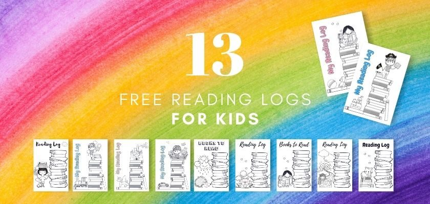 13 Reading Logs That Kids Can Color (Free Printables)
