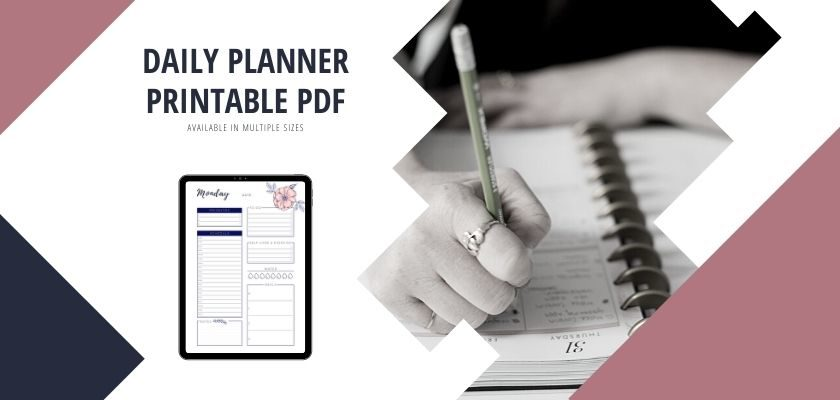 Day Planner With Schedule Floral (Printable PDF)