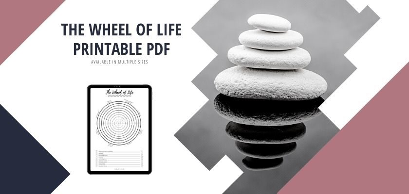 Life Balance Wheel Template With Instructions (Printable PDF)