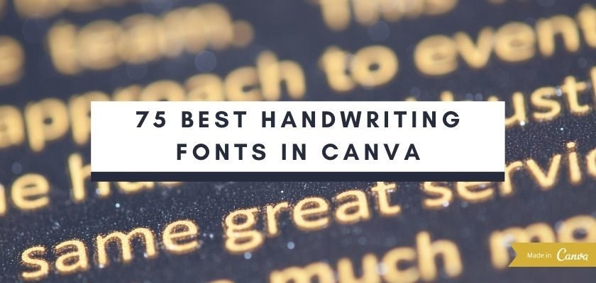 Best Handwriting Fonts To Use In Your Designs