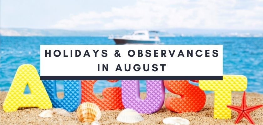 Social Media holidays and observances in August